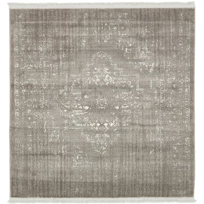 Wilton Light Gray Area Rug Rug Size: Square 4