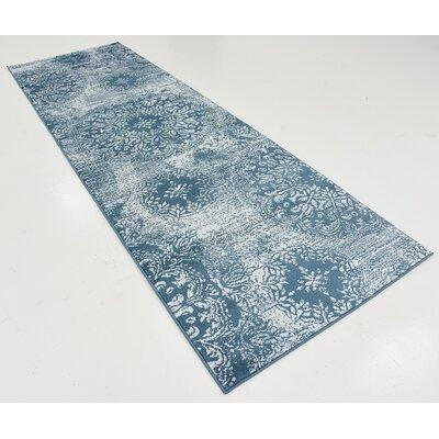 Brent Blue Area Rug Rug Size: Runner 3 x 910