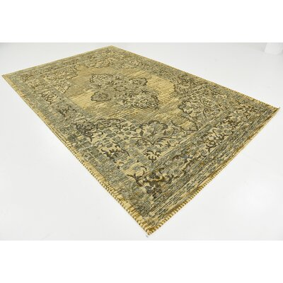 Alessandro Green Area Rug Rug Size: 6 x 9