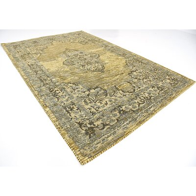 Alessandro Green Area Rug Rug Size: 7 x 10