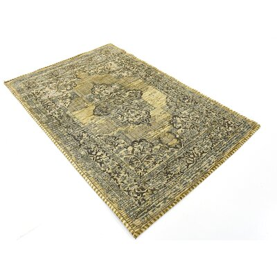 Alessandro Green Area Rug Rug Size: 39 x 55