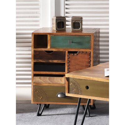 Monico 5 Drawer 1 Door End Table