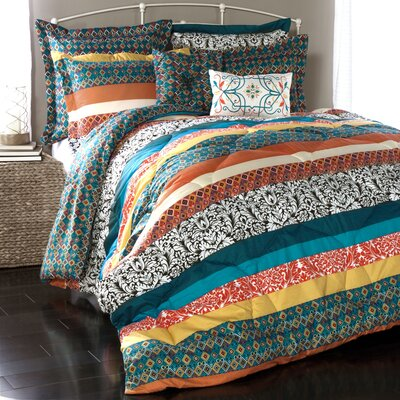 Todrick 7 Piece Reversible Comforter Set Size: King