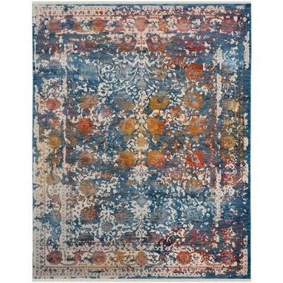 Marigold Blue Area Rug Rug Size: Rectangle 6 x 9