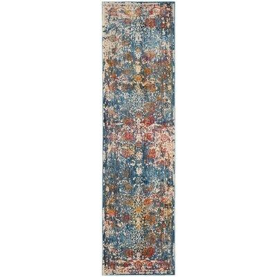 Marigold Blue Area Rug Rug Size: Runner 22 x 8