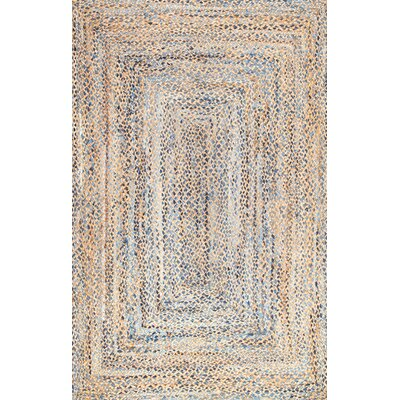 Destrie Hand-Braided Blue Area Rug Rug Size: Rectangle 5 x 8