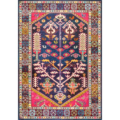Destrie Pink/Blue Area Rug Rug Size: Rectangle 4 x 6