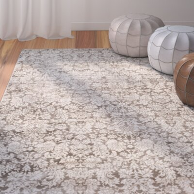 Vishnu Brown / Cream Area Rug Rug Size: 67 x 92