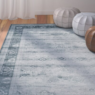 Makenna Light Blue / Dark Blue Rug Rug Size: 9 x 12