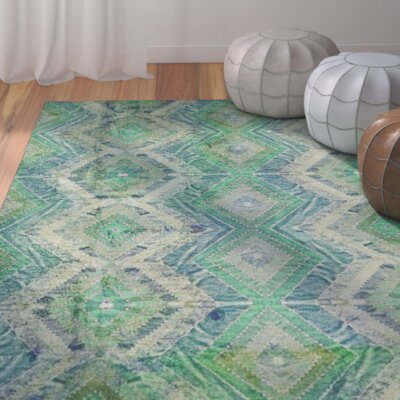 Veere Green/Blue Indoor/Outdoor Area Rug Rug Size: 4 x 6