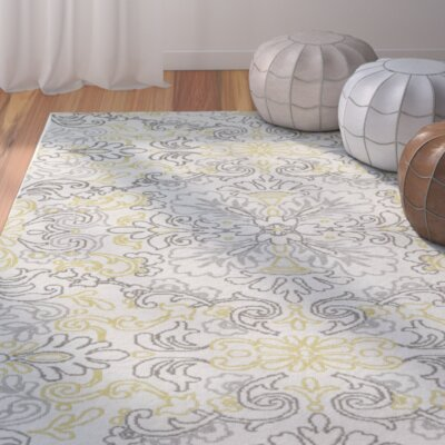 Mera Ivory Area Rug Rug Size: Rectangle 9 x 12