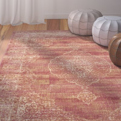 Makenna Rust Area Rug Rug Size: 53 x 76