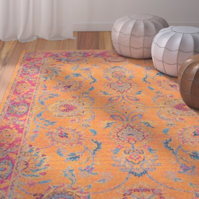 Kiaan Orange Area Rug Rug Size: 5' x 7'5