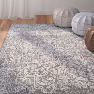 Elson Gray/Ivory Area Rug Rug Size: 4 x 6