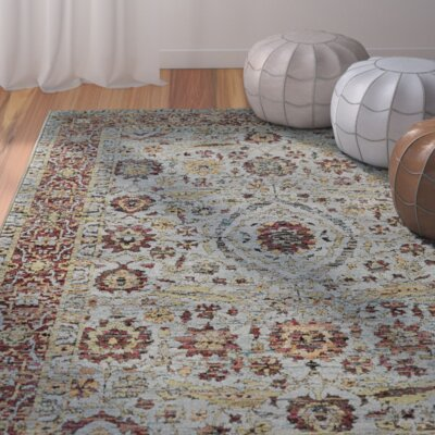Tuma Oriental Blue/Red Area Rug Rug Size: Rectangle 86 x 117