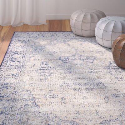 Koury Blue/Beige Area Rug Rug Size: 33 x 53