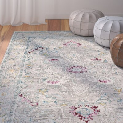 Lulu Tibetan Gray/Multi Area Rug Rug Size: Rectangle 9 x 12