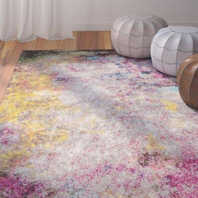 Szeto Gray/Pink Area Rug Rug Size: 8 x 10