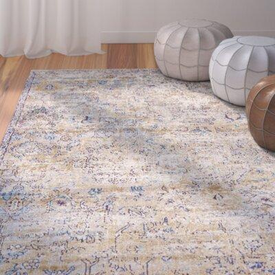 Koury Light Blue/Beige Area Rug Rug Size: 106 x 165