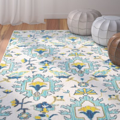 Mansi Blue/Yellow/Beige Area Rug Rug Size: 310 x 55