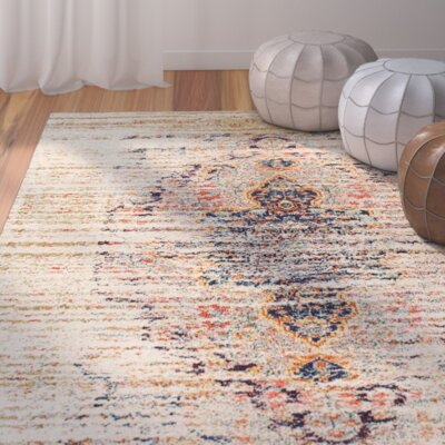 Rabia Sand Area Rug Rug Size: Rectangle 53 x 77
