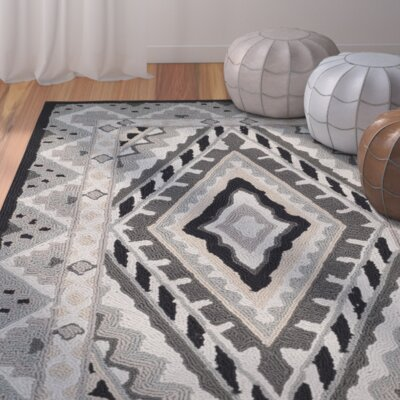 Puri Ivory/Grey Outdoor Area Rug Rug Size: 8 x 10
