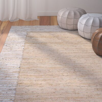 Crosby Hand-Woven Beige Area Rug Rug Size: Rectangle 76 x 96