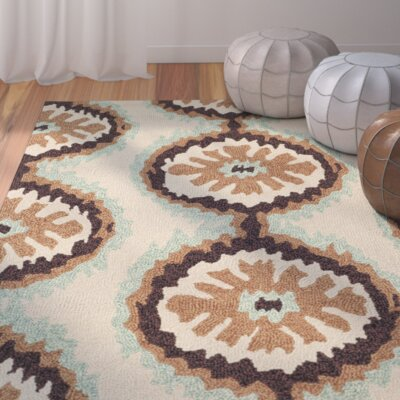 Puri Beige/Green Outdoor Area Rug Rug Size: Rectangle 36 x 56