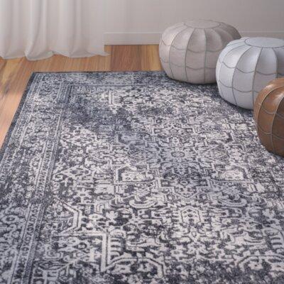 Elson Black/Grey Area Rug Rug Size: 9 x 12