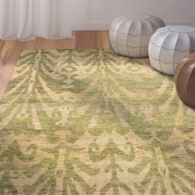 Pinehurst Oriental Green/Gold Area Rug Rug Size: Rectangle 5 x 8