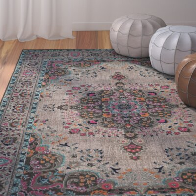 Phillip Light Gray Area Rug Rug Size: 2'2