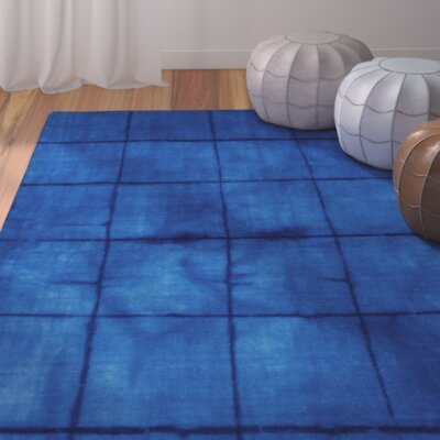 Steinsel Cobalt Geometric Area Rug Rug Size: 2 x 3