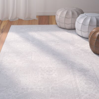 Shenk Gray/Neutral Area Rug Rug Size: 2 x 3