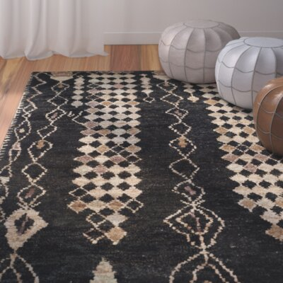 Pinehurst Black/Beige Area Rug Rug Size: Rectangle 4 x 6