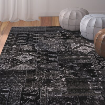 Ulibarri Black/Brown Area Rug Rug Size: Rectangle 2 x 37