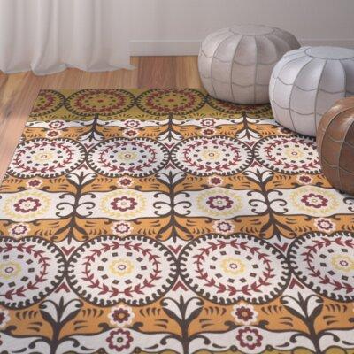 Allison Olive / Burgundy Contemporary Rug Rug Size: 5 x 8