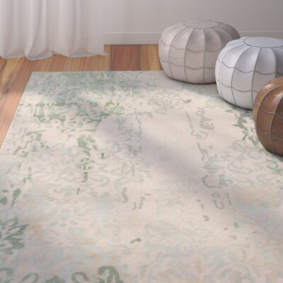Urrutia Beige/Sea Foam Rug Rug Size: Rectangle 2 x 3