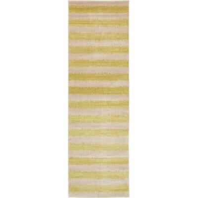 Randeep Green/Beige Area Rug Rug Size: Runner 3 x 10