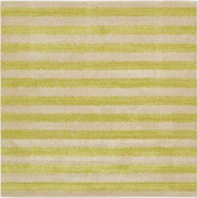 Randeep Green/Beige Area Rug Rug Size: Square 8