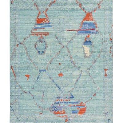 Rune Light Blue Area Rug Rug Size: 8 x 10