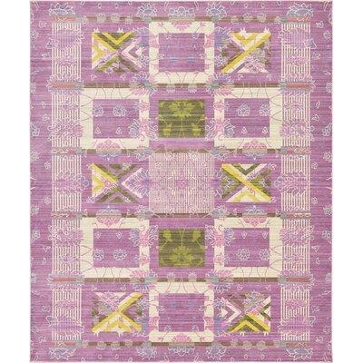 Rune Purple Area Rug Rug Size: 8 x 10
