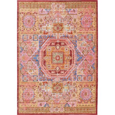 Bradford Peach Area Rug Rug Size: Rectangle 5 x 8