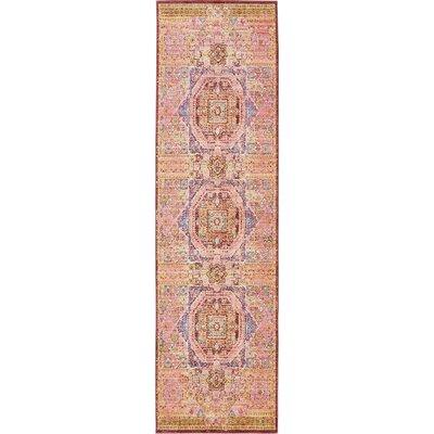Bradford Peach Area Rug Rug Size: Runner 27 x 910