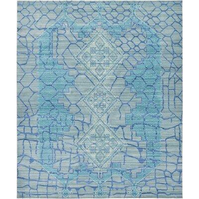Rune Blue Area Rug Rug Size: 8 x 10