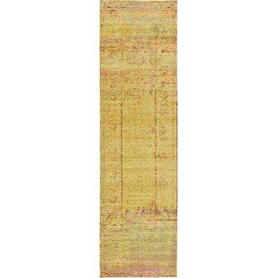 Rune Yellow Area Rug Rug Size: Runner 27 x 910