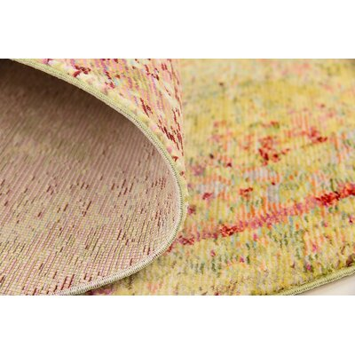 Danbury Yellow Area Rug Rug Size: Rectangle 7 x 10