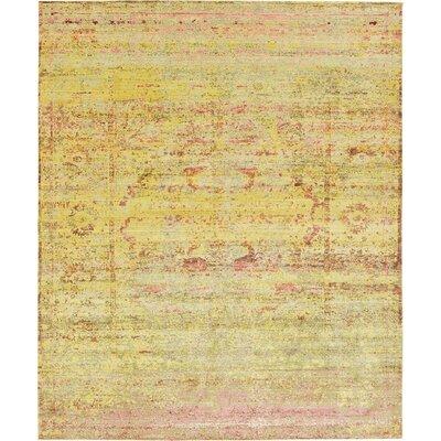 Rune Yellow Area Rug Rug Size: 13' x 16'5
