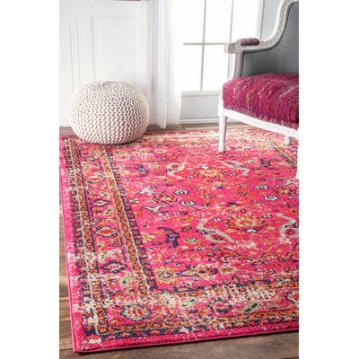 Cher Pink Area Rug Rug Size: Rectangle 67 x 9