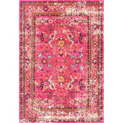 Cher Pink Area Rug Rug Size: Rectangle 3 x 5