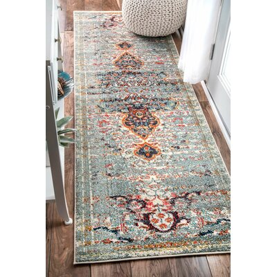 Estrel Blue Area Rug Rug Size: Rectangle 9 x 12